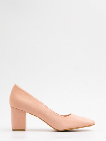 Pantofi cu toc cod X21-731 Beige