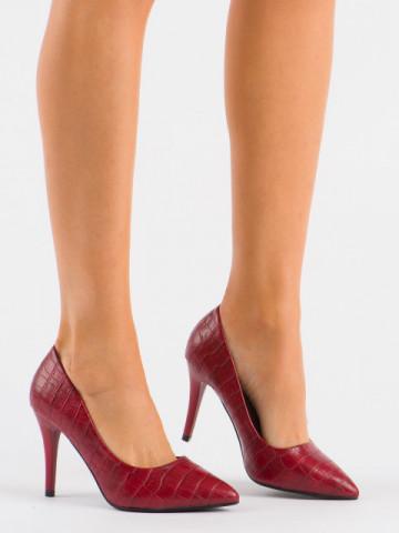 Pantofi cu toc cod XQ260 Wine