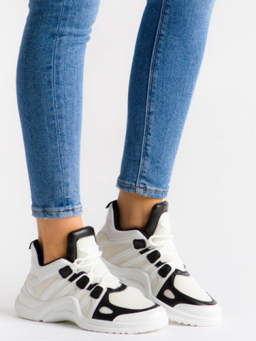 Pantofi sport cod 1016 White