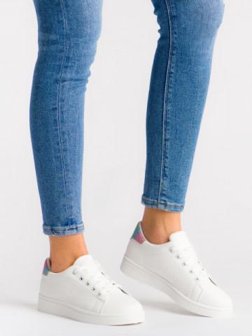 Pantofi sport cod 118-1 White/Seven Colours
