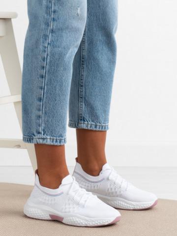Pantofi sport cod 23-101 White/Pink