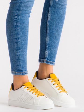 Pantofi sport cod 419 White/Blue/Yellow
