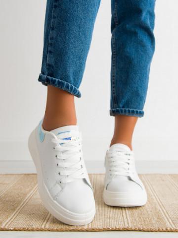 Pantofi sport cod 5811 White/Silver