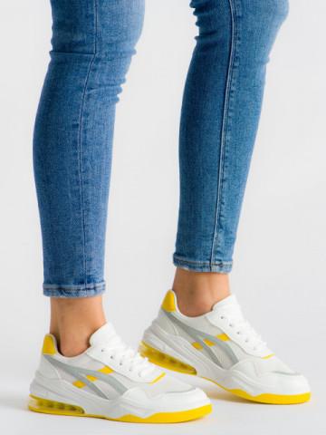 Pantofi sport cod 602 White/Yellow