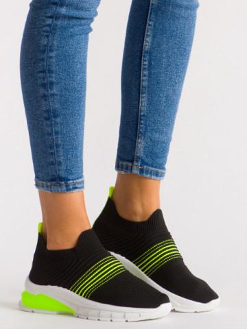 Pantofi sport cod 8087 Black/Green