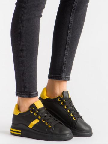 Pantofi sport cod ABC-308 Black/Yellow
