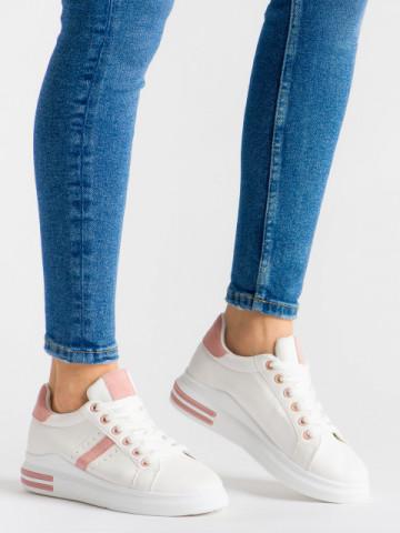 Pantofi sport cod ABC-308 White/Pink