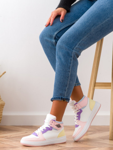 Pantofi sport cod AJ108 White/Pink