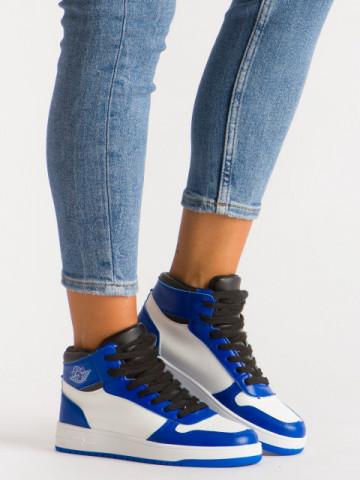Pantofi sport cod AJ18 White/Blue