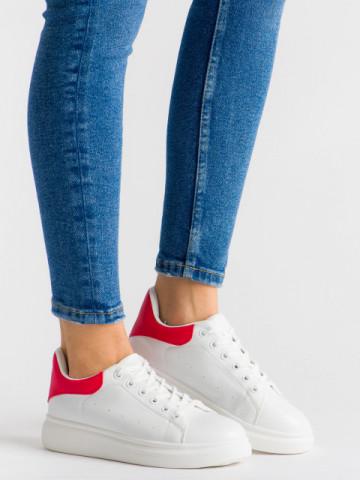 Pantofi sport cod B80 White/Red