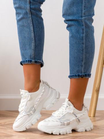 Pantofi sport cod BK12 White