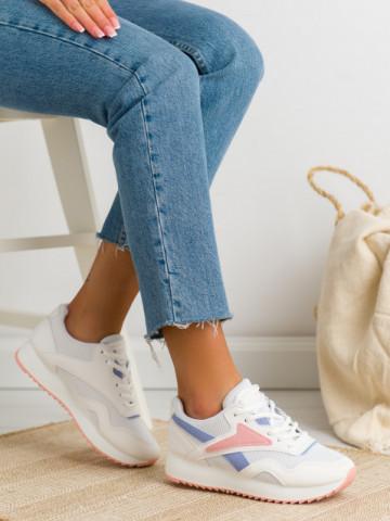 Pantofi sport cod BO517 White