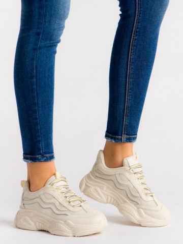 Pantofi sport cod G-236 Beige