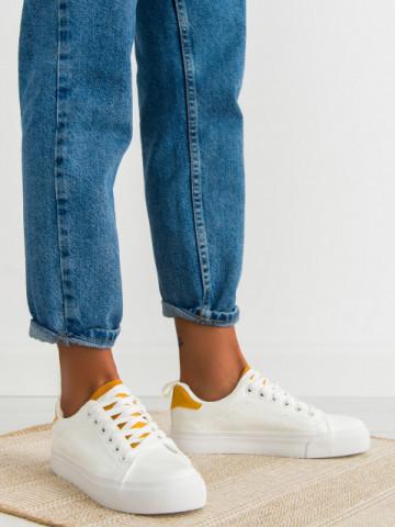 Pantofi sport cod H2205 White/Yellow