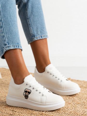 Pantofi sport cod J1855 White