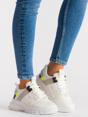 Pantofi sport cod LLS-004 White