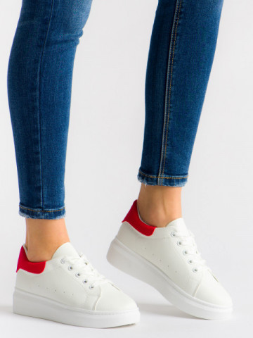 Pantofi sport cod T01 White/Red