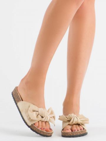 Papuci cod 10-218 Beige