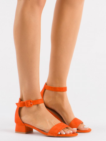 Sandale cu toc cod 3008 Orange