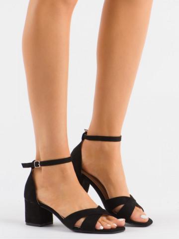 Sandale cu toc cod 3022 Black