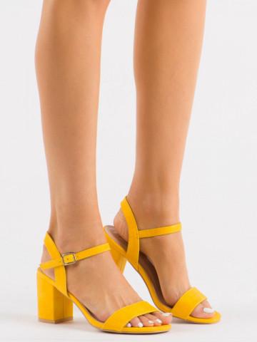 Sandale cu toc cod 8158 Yellow
