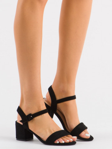 Sandale cu toc cod 99-61A Black