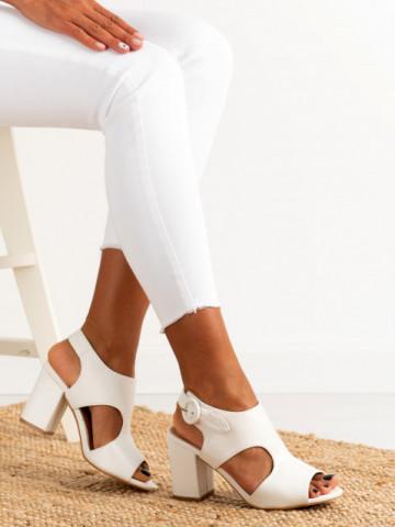 Sandale cu toc cod A8561 White