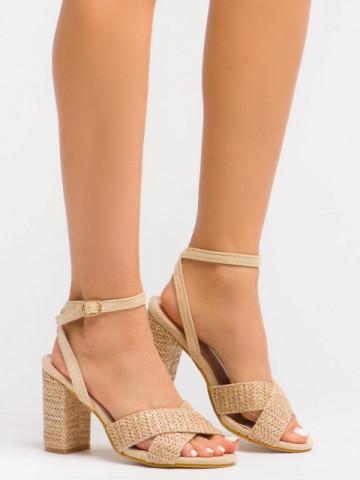 Sandale cu toc cod BL00106 Beige
