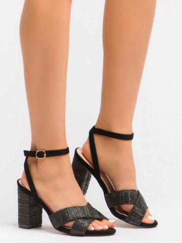 Sandale cu toc cod BL00106 Black