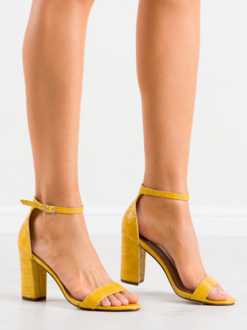 Sandale cu toc cod CD58 Yellow