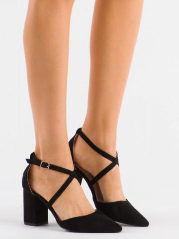 Sandale cu toc cod D85-5Y Black