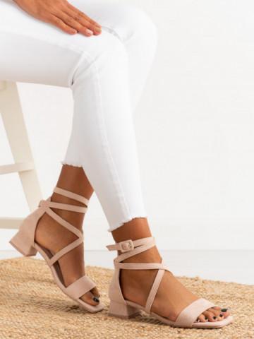 Sandale cu toc cod FB0067 Pink