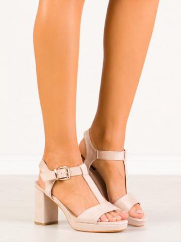 Sandale cu toc cod HJ103 Pink