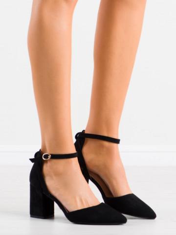 Sandale cu toc cod LE075 Black