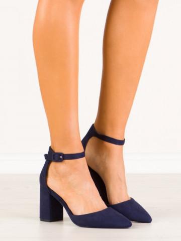 Sandale cu toc cod LL186 Blue