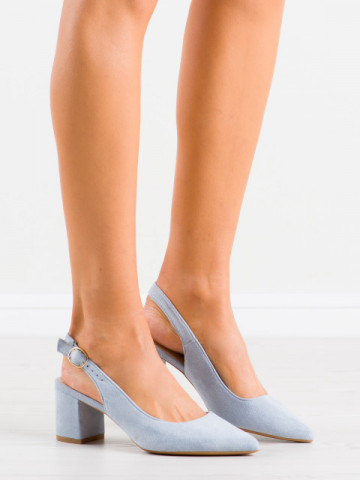 Sandale cu toc cod LL206 Blue