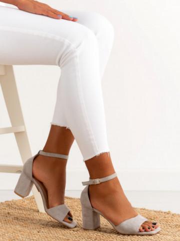 Sandale cu toc cod LL247 Grey