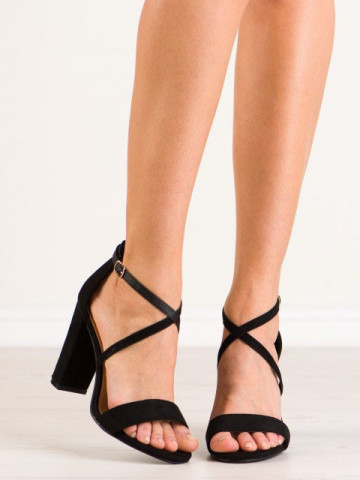Sandale cu toc cod NC802 Black