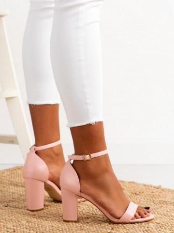 Sandale cu toc cod OD0350 Pink