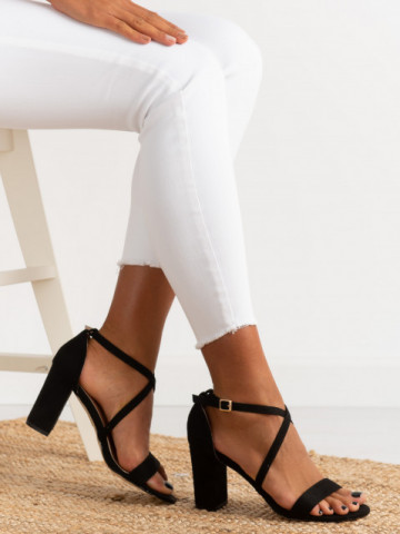 Sandale cu toc cod OD0352 Black