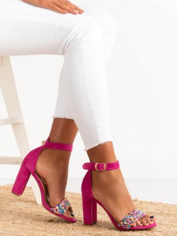 Sandale cu toc cod OD344 Puple