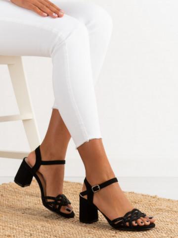 Sandale cu toc cod OM1204 Black