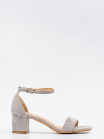 Sandale cu toc cod SK73 Grey