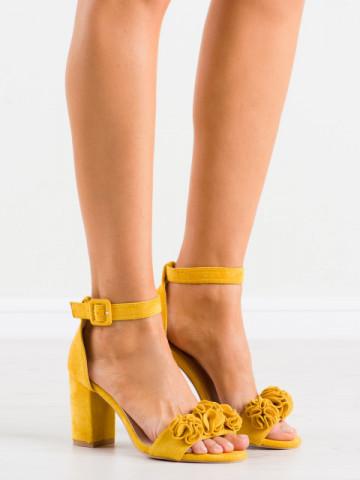 Sandale cu toc cod SL1001 Yellow