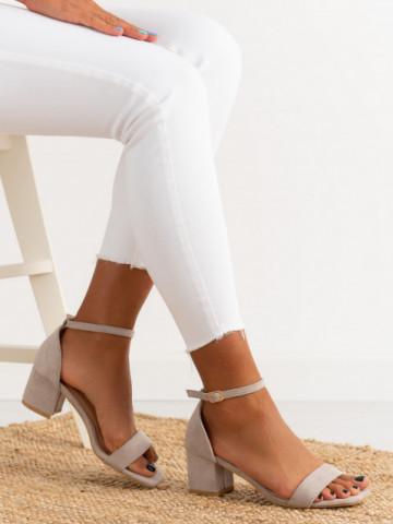 Sandale cu toc cod TU171 Grey