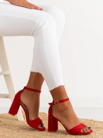 Sandale cu toc cod TU173 Red