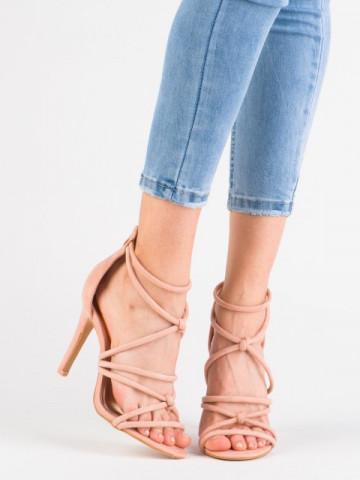 Sandale cu toc cod ZY-116 Pink