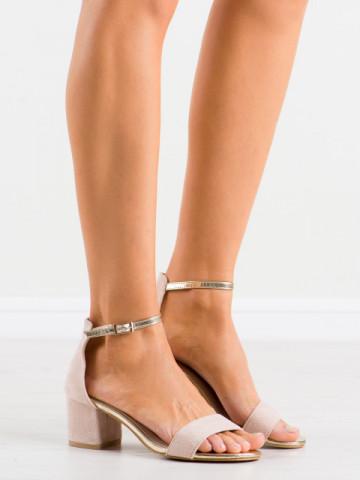 Sandale cu toc cod M307 Beige