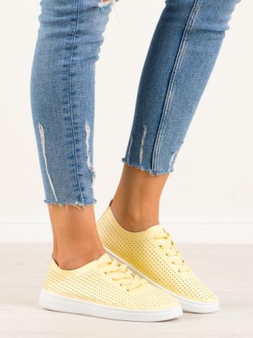 Pantofi casual cod 2967 Yellow