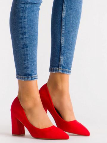 Pantofi cu toc cod 030-22 Red